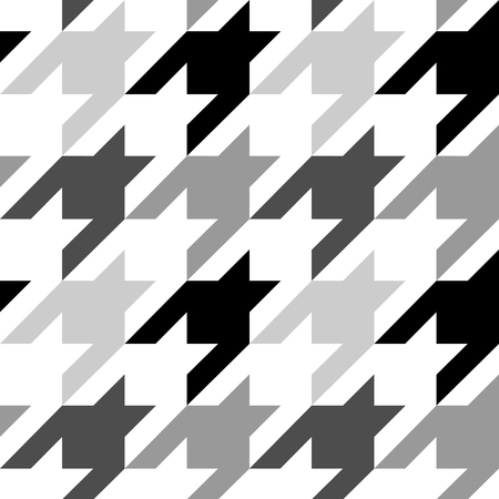 Houndstooth Vector Seamless Pattern. Repeat Textile Print