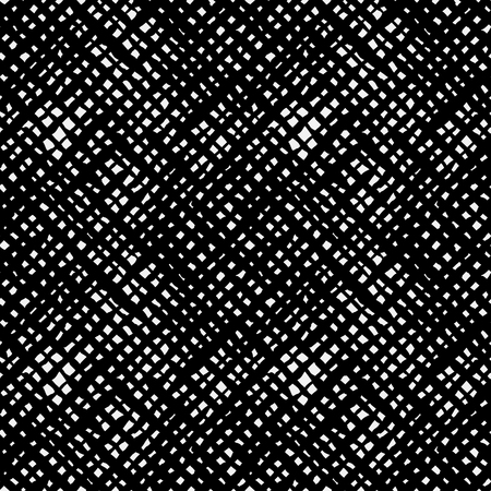 Ethnic black and white check diagonal seamless pattern. Boho abstract repeat textile print isolated on white background. Folk fashion tie dye hand made wallpaper.