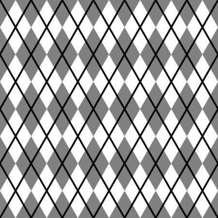 Argyle vector seamless pattern. Abstract check repeat background