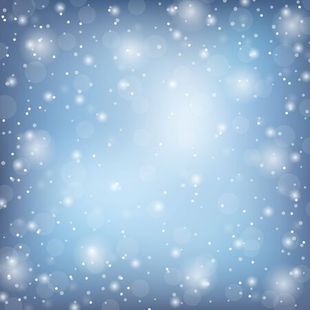 Winter frame with snow. Vector natural template