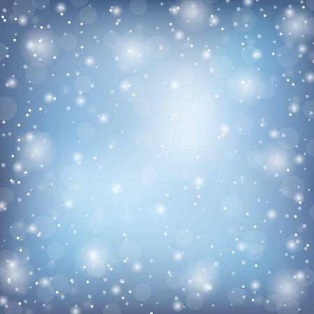 Winterrahmen mit Schnee. Vektor natürliche Vorlage