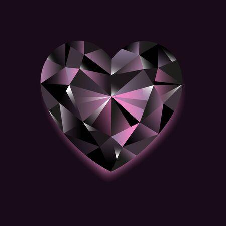 Black Diamond vector illustration on dark background