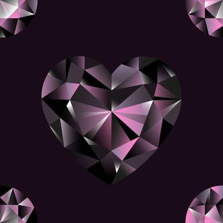 Diamonds seamless pattern. Vector repeat jewelry background