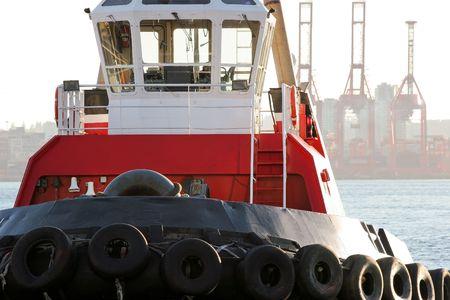 Tugboat: Bright Red Tugboat