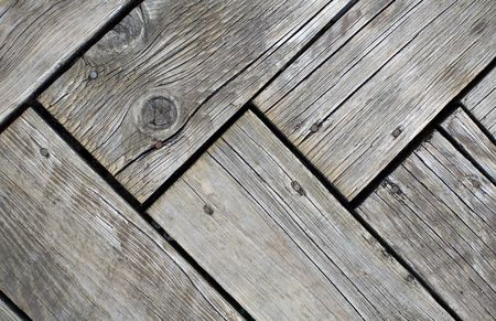 Old Wood Planks on Pier photo