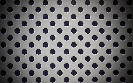 gray pattern: Gray metal grate with circular holes pattern
