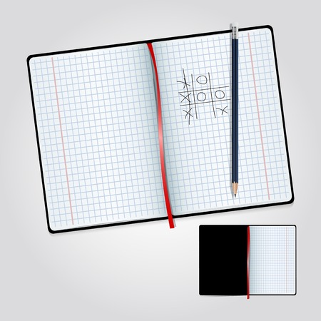 notebook: Notebook and pencil Illustration