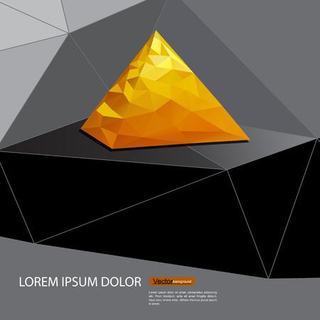 bullion: Gold bullion pyramid vector triangles. Illustration