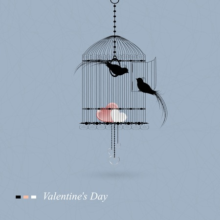 hearty: Happy Valentine\s Day Greeting Card Illustration