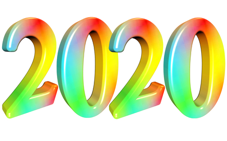 a colorful number 2020