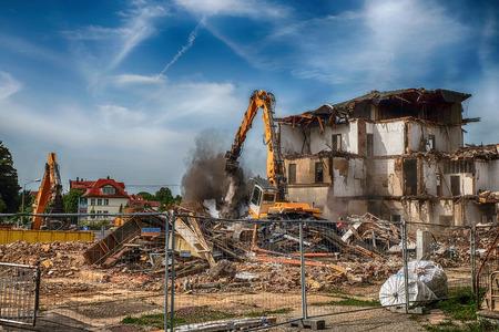Demolition of the Waltershausen railway station Редакционное