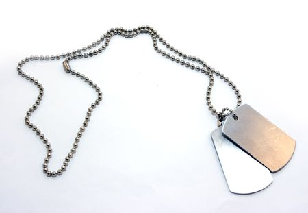 Identification badges on a chain