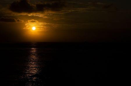 Early morning sun on Bali in Indonesia photo