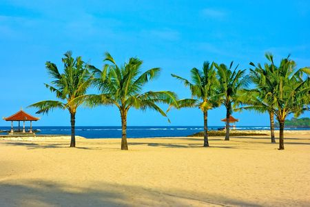 Nusa dua beach on Bali with nobody around Stock Photo