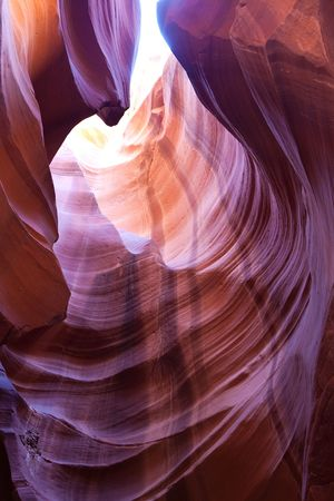 Rock formation in Antelope Canyon in Arizona, USA photo