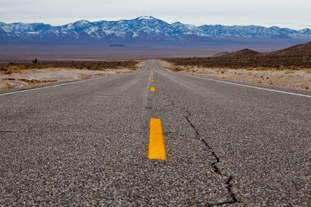 Empty road on Extraterrestrial highway, Nevada, USA photo