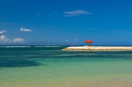 tuinhuis: Kleine zomerhuis op het eiland Bali in Indonesië Stockfoto