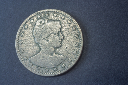 Brazil four hundred Reis 1901, Liberty head coin, vintage old, difficult and rare to find.
