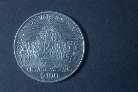 anno: A Hundred Lire Ioannes XXIII Second Vatican Council - Anno IV - 1962 tail coin, vintage antique old, difficult and rare to find.