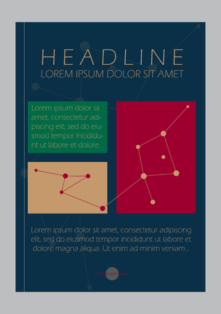 Business Blue Book Cover Design Template with lines.