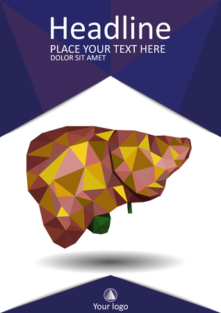 Human liver image illustration