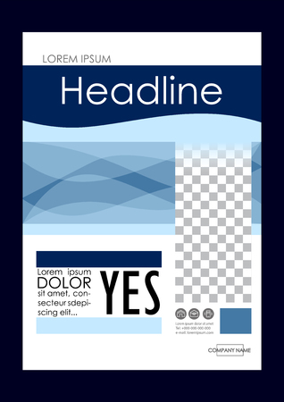 Editable Vector A4 Business Book Cover Layout Design Template