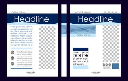 Editable Vector A4 Business Book Cover Layout Design Template.