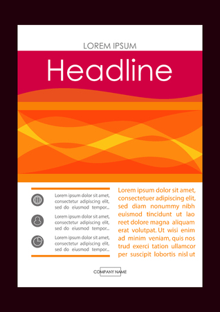 Editable Vector. A4 Business Book Cover Layout Design Template for Portfolio, Brochure, Annual Report, Flyer, Magazine, Academic Journal, Poster, Monograph, Corporate Presentation.