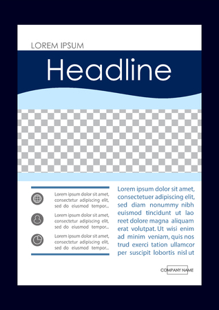 Editable vector, A4 business book cover layout design template for portfolio, brochure, annual report, flyer, magazine, academic journal, poster, monograph, corporate presentation.
