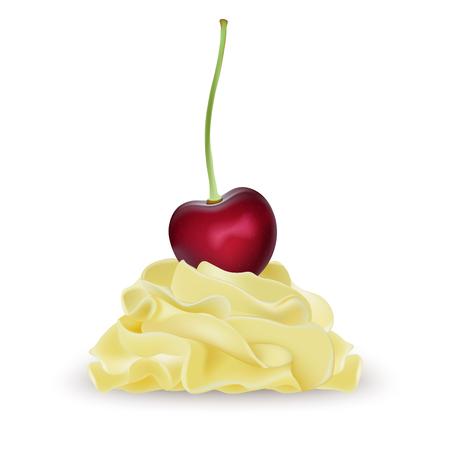 Vanilla banana lemon whipped cream for ice cream, yogurt, cupcake, cake.