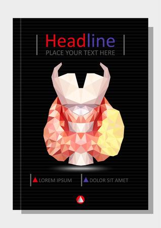 Realistic thyroid gland in low poly. Human 3d thyroid, gland, larynx, isthmus, trachea.