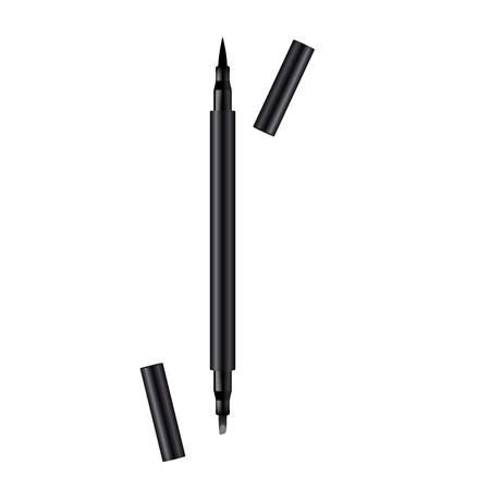 Realistic lip liner. Eyeliner. 3d design element. Vector illustration.