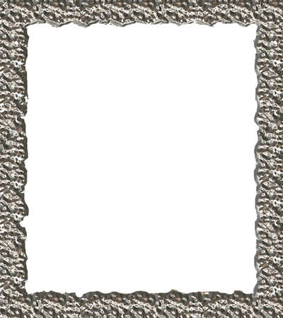 sheeny: An elegant silver frame Stock Photo