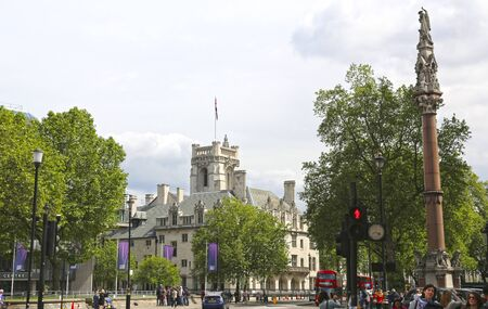 London, Great Britain -May 22, 2016: the building of Supreme Court of Great Britain from the side of Victoria Street Editorial