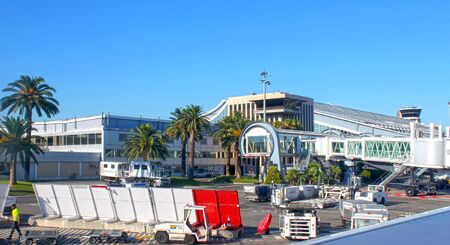 Nice, France - August 1, 2013: Nice airport