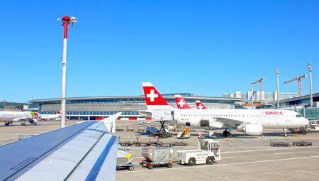 Zurich, Switzerland - August 1, 2013: Zurich airport