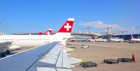 Zurich, Switzerland - June 10, 2014: Zurich airport