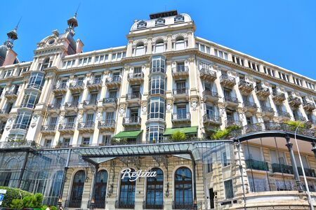 Nice, France - June 19, 2014: This former hotel was built in 1896 for english aristocrats and Queen Victoria.