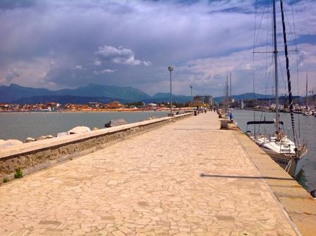 viareggio: Pier in Viareggio, Italy Stock Photo