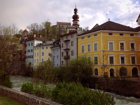 tyrol: Bruneck  Brunico in South Tyrol Stock Photo