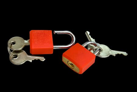 collateral: closed padlocks on the key