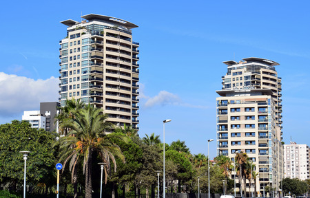 Modernist architecture in the city of Barcelona Spain