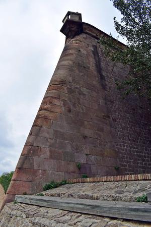 built in: Montjuic Castle, built in Montjuic mountain in Barcelona
