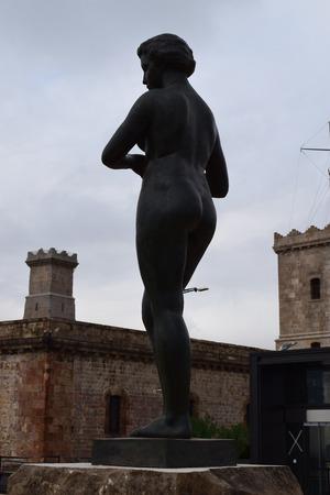 montjuic: Detelles of the castle of Montjuic
