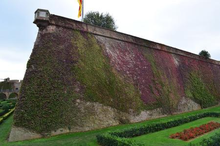 montjuic: Gardens of the Castle of Montjuic built in the Montjuic mountain Barcelona Spain
