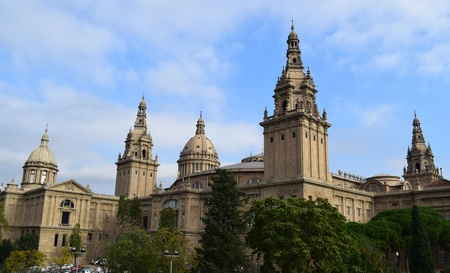 montjuic: National Palace of Montjuic in Barcelona built Between 1926 and 1929.
