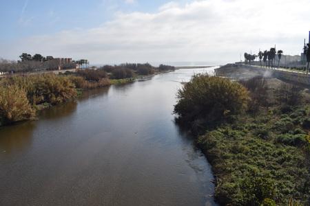 Delta river Bes�??,�s in Barcelona Spain Stock Photo