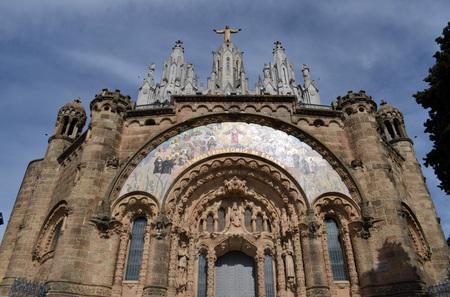 tibidabo: Church of the Tibidabo Tibidabo mountain in Barcelona