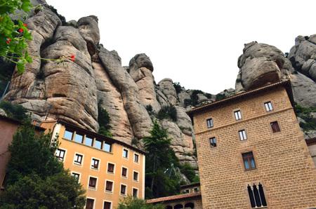 Montserrat Rocky Mountain, Virgin of Montserrat Barcelona Stock Photo