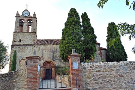 Castelnou Church in France